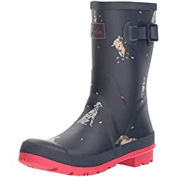 Joules Molly Welly, Botas de Lluvia para Mujer, Azul (French Navy Dog In Leaves Fnvdglv), 38 EU
