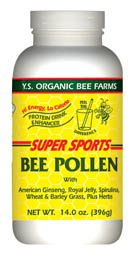 Y.S. Organic Bee Farm Super Sports Bee Pollen (Protein Drink Enhancer) - 14.2 oz. - Powder Y. S. Bio-Bee Farm Super Sports Bienenpollen (Protein Drink Enhancer) - 14,2 Unzen - Pulver (Ys Bio)