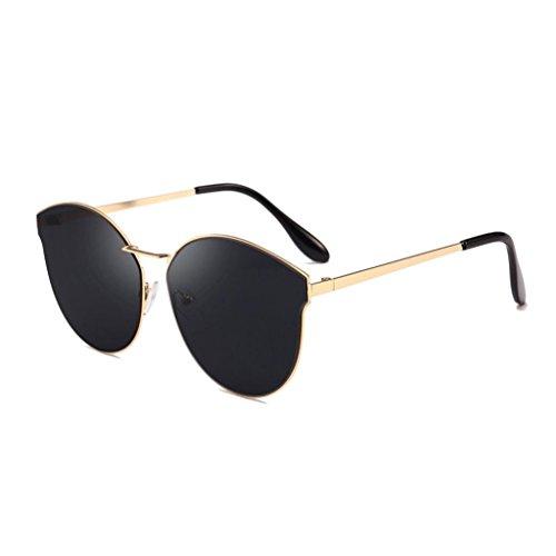 Frau Männer Retro Mode Sonnenbrille Integriert UV Brille YunYoud Vintage Pilotenbrille Metallrahmen...