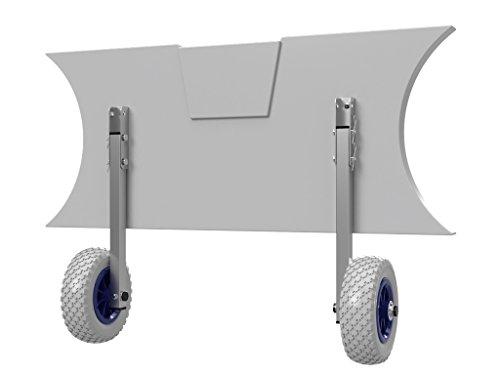 EDELSTAHL Heckräder für Schlauchboot, Slipräder - EasyTrans PU200 GB