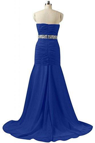 Sunvary Charming raso abito da sera lungo sirena Prom Dress Pageant Royal Blue