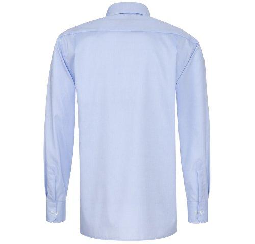 ETERNA male Comfort Fit Chemise de manches longues blanc Bleu - Bleu