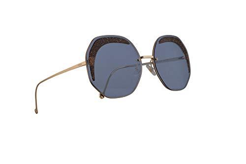 Fendi FF0358/S Sonnenbrille Blau Mit Blauen Gläsern 63mm MVUKU FF0358S FF 0358/S