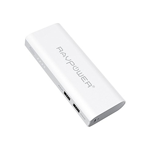 RAVPower Caricabatterie Portatile 13400mah (Uscita 4.5A Totale, Ingresso 2A) Dual USB con tecnologia iSmart, Carica (Universale Aa Power Pack)