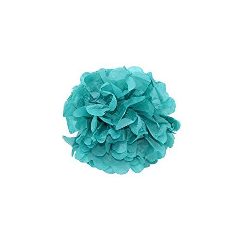 Seidenpapier Papierblumenball Pompom für Hochzeit Geburtstags-Party-Dusche-Hausgarten-Dekoration, Teal, 12inch 30cm