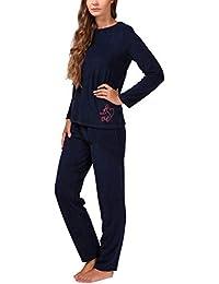 Moonline Frottee-Schlafanzug für Damen mit Motivdruck