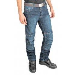 OJ - Giove Man Jeans 4 Stagioni Tessuto Esterno in Denim Elasticizzato, Blu, 48