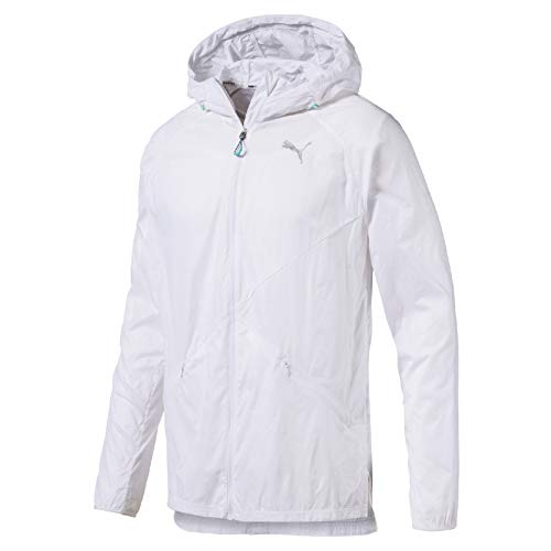 PUMA Herren Lightweight Hooded Jacket Trainingsjacke, White, L - Herren Winter Puma Jacke