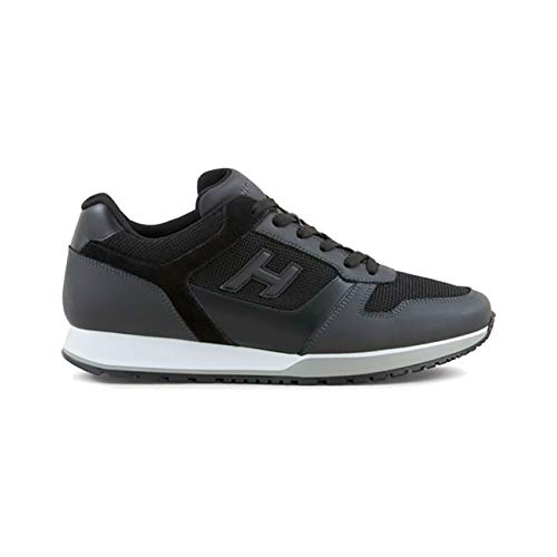 Hogan Sneakers H321 in Pelle Nera 9646a703862