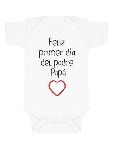 Body de Manga Corta para bebé - Feliz Primer Día del Padre - Regalo