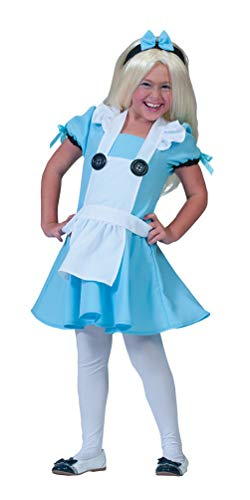 Karneval-Klamotten Alice im Wunderland Kostüm Kinder Größe 128