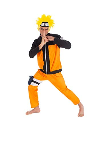 Kostüm Hokage - Chaks Naruto-Kostüm für Herren Anime-Kostüm orange-schwarz L