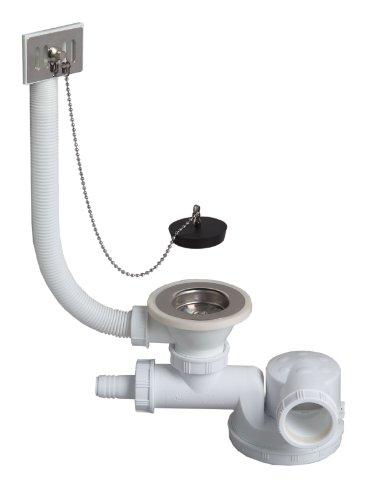 TM180099 Ablaufgarnitur Siphon, Stöpsel Anschlussstutzen Waschmaschinenanschluss