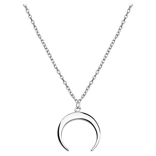 SOFIA MILANI Damen Halskette Mond Anhänger Silber 50228