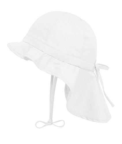 Mädchen-sonnenhut (Döll Mädchen Sonnenhut Nackenschutz UV-Schutz 30 75335, Weiß (bright White 1000), 51)