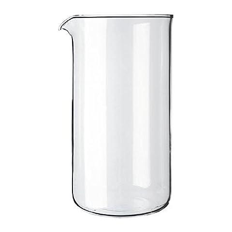Bodum Transparent Glass Spare Coffee Maker Beaker 3 Cup 0.35L