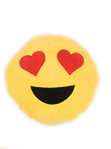 Varshas Heart Eyes Cute and Cushion Soft Smiley Emoji Pillow