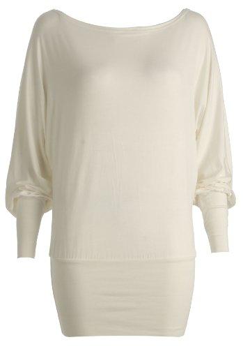 Inconnu femme chauve-souris-haut en jersey grand modèle Elfenbein - Beige