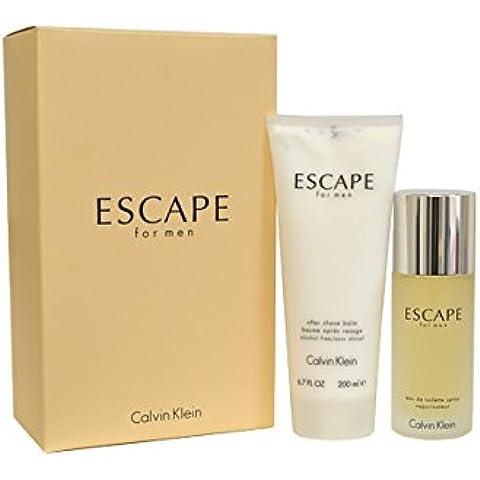 Calvin Klein Escape for Men 100ml Eau De Toilette and After Shave Balm 200ml