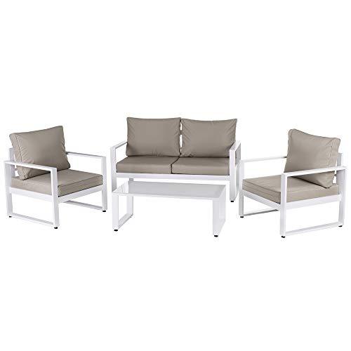 Conjunto de Muebles para jardín marrón de Aluminio Garden - LOLAhome