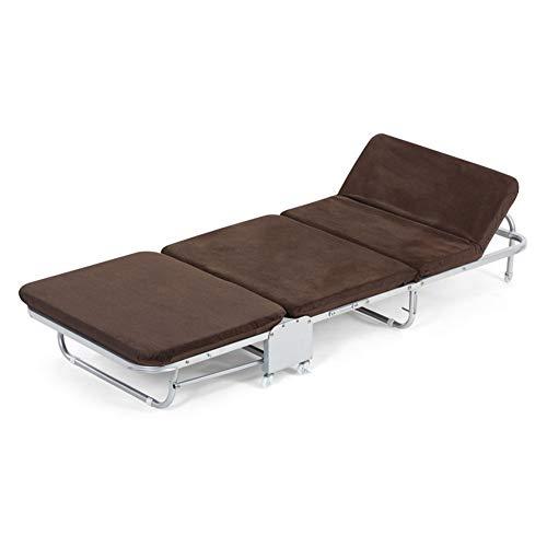 QTT Klappbetten Einzelbetten Mit Matratzen Faltbarer Lounge-Sessel Mit Verstellbarer Rückenlehne Und Kostenlosem Kissen (größe : 65X180X26CM)