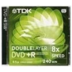 TDK T19544 DVD+R DL 8,5GB 240Min 8x Jewelcase (1 Disc)