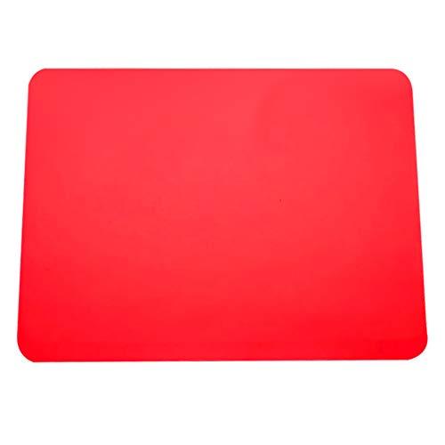 Multifonctionnel Tapis de Table Tapis de Pot Coaster Tapis de Place Dessous de Plat Silicone Antidérapant Résistant Chaleur (Rouge)