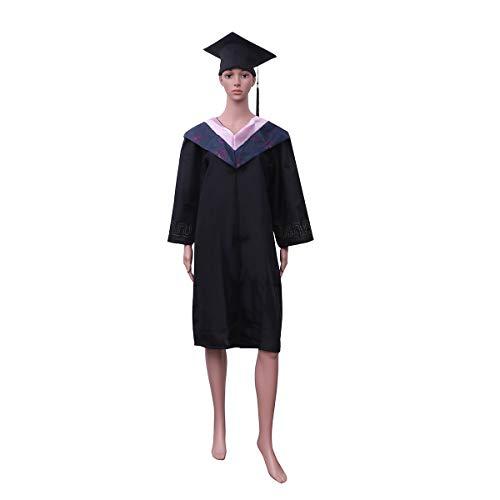 Amosfun Erwachsener Graduation Gown Cap mit Quaste Matt Graduats Kostüm Zubehör für Bachelor - Größe XL Graduation Kleid