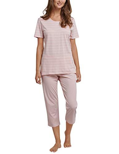 Schiesser Damen Zweiteiliger Schlafanzug, Gelb (Pfirsich 612), 44 (Herstellergröße: 044) (Frauen-sommer-pyjama)
