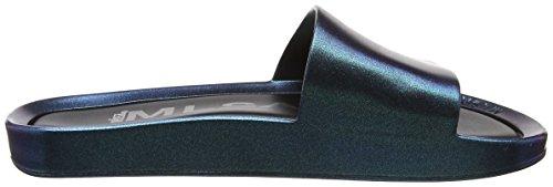 Melissa Damen Beach Slide Shine Pantoffeln Blue (Blue Iridescent)