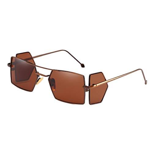Scrolor Coole Brillen Unisex Vollrand Damen 4 Stück Brillenmode Sonnenbrillen Strahlenschutz Exklusive Einzigartiges Design (Kaffee,free)