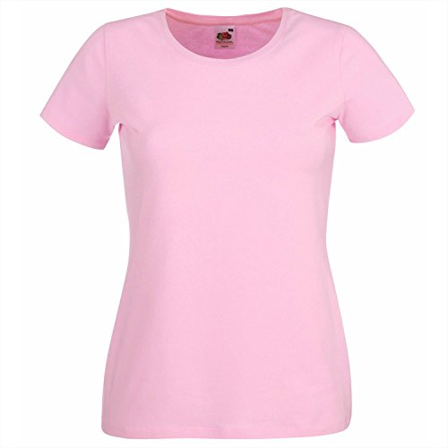 Fruit of the Loom Damen T-Shirt Ss129m Licht Rosa