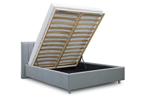 ES Design 08 Polsterbett Antony mit 5 Jahren Garantie, EIN hochwertiges Bett, Lattenrost und Stauraum