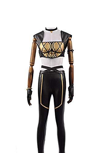 Cosplayfly LOL KDA Akali Ahri Kaisa Cosplay Mädchen Battle Dress Halloween - Akali Cosplay Kostüm