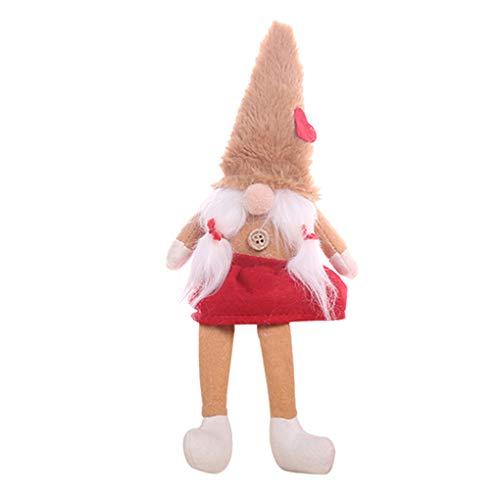 Regalo peluche Babbo Natale bambola Natale Figurine di Natale Capodanno finestra Desk Decoration Censhaorme