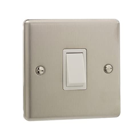 Stainless Steel 20A Single Light Switch Double Pole [ST730-01]