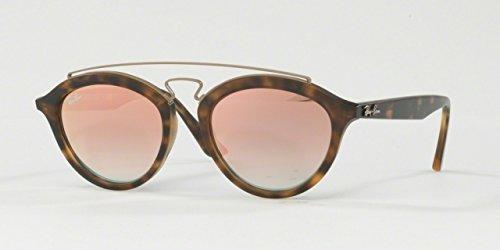 Ray-Ban Gatsby ii lunettes de soleil à la Havane mat de cuivre miroir dégradé RB4257 6267B9 50 MATTE HAVANA