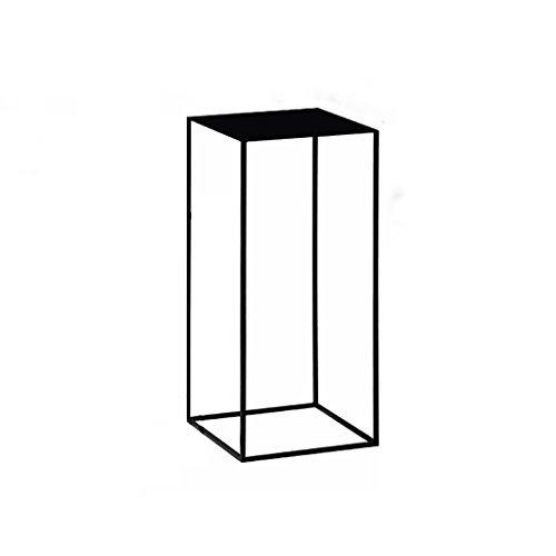 Hongsezhuozi Tische Teetisch Couchtisch Kreativ Amerikanisch Metall Hochtisch Einfach Mini Modern Wohnzimmer Sofa Schwarz Beistelltisch Ecktisch Freizeittisch (größe : 34x34x74cm) - Schlafzimmer Modernen Beistelltisch