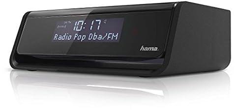 Hama DR30 Digitaler Radiowecker (UKW/DAB/DAB+, mit zwei Weckzeiten, Sleep-Timer und Lichtsensor zur Displaybeleuchtung) schwarz - Nero Radio Dab