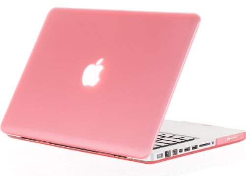 Kuzy - PINK Rubberized 13-inch Hard Case Cover See Thru for MacBook Pro 13.3