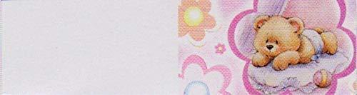 100 pz bigliettini bigliettino bomboniera nascita bambina orsetto rosa
