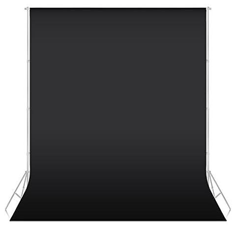 Neewer® 5.25ft x 10.5ft / 1.6x3.2M Nicht -gewebtes Gewebe-Hintergrund-Kulisse-Tuch für Foto-Studio-Portrait Fotografie Video Shooting (Schwarz) von Neewer