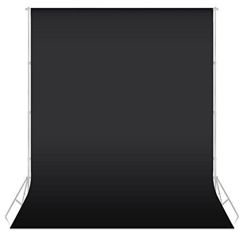 Neewer® 5,25x 10,5pies/ 1,6x3m Tela sin Tejidos Fondo para Estudio de Fotografía Auotorretrato Video (Negro)
