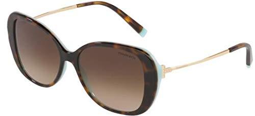 Tiffany Sonnenbrillen T TF 4156 Havana/Brown Shaded Damenbrillen