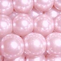 200 pezzi, 4 mm, con perline di vetro, A0906, colore: rosa pallido