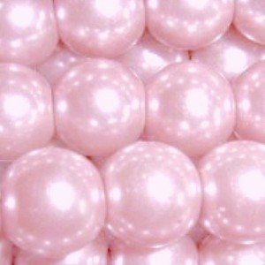 200 pieces 4mm Glass Pearl Beads - Pale Pink - A0906 by k2-accessories Glass Pearl Beads