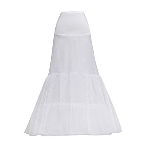 Cosplayitem Jupon de Soirée Petticoat 2 cerceaux 2 couches Robe de mariée Underskirt Crinoline Blanc