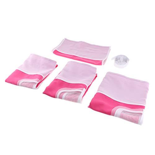 Rote Kinder-betten (Fenteer Baumwolle Spielvorhang Bettvorhang Vorhang für Hochbett Spielbett Kinder Bett - Pink Rot)