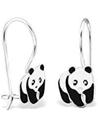 Liara - Children`s Panda Earrings 925 Sterling Silver Colour. Polished And Nickel Free