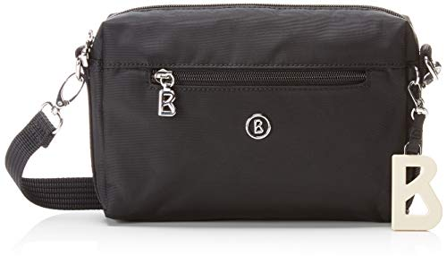 Bogner Damen Verbier Pukie Shoulderbag Shz Schultertasche, Schwarz (Black), 4x15x22 cm
